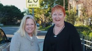 Lori Burnett and Barbara Stacy at Valota and Doris Ct.