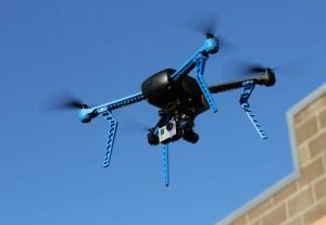 3d robotics drone in action